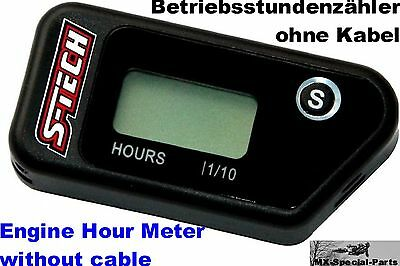 Betriebsstundenzähler ohne Kabel KAWASAKI KX250F Engine Hour Meter without cable