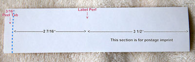 Postage Meter Labels for Neopost IJ series - 2 Partial Boxes approx 460 Pieces