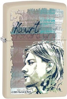 Zippo Kurt Cobain Logo Music American Rock Cream Matte Windproof Lighter 29051