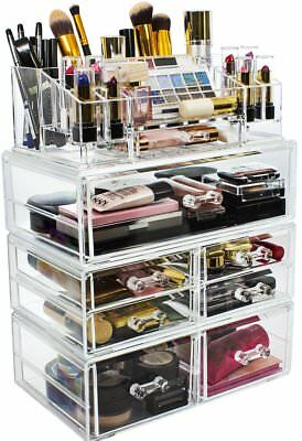 Sorbus Acrylic Cosmetics Makeup and Jewelry Storage Case Display Sets – Interloc