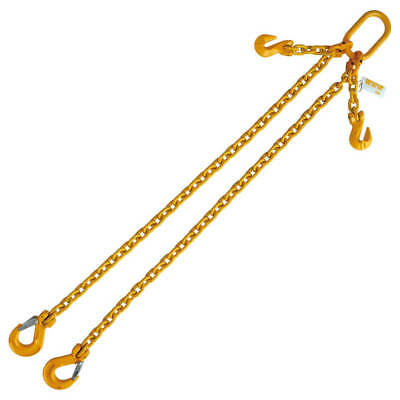 """5/16"""" x 5' G80 Adjustable Chain Lifting Sling with Sling Hook Double Leg"""