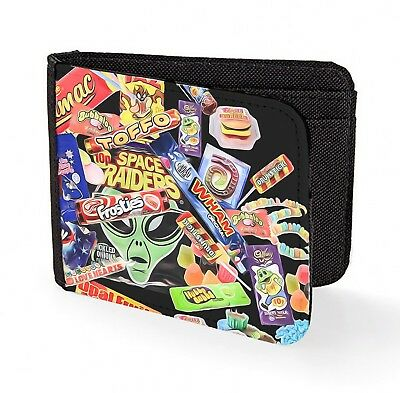 retro sweets wallet credit card candy kids 90s 80s classic art print chocolate