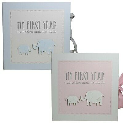 My First Year Record Book / Baby Memory Keepsake by Petit Cheri  - Pink or Blue