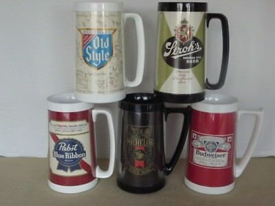 5 insulated Thermo-Serve Beer Mugs