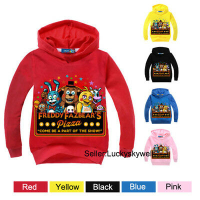 Kids Boys & Girls Five Nights at Freddy's Hooded Sweater Sweatshirt Hoodies New