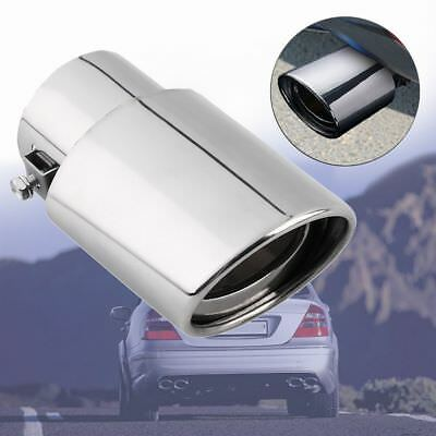 Chrome Silencer Tail Throat Rear Muffler Car Exhaust Pipe Stainless Steel