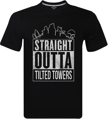Straight Outta Tilted Towers Printed T-Shirt Fortnite Gaming Game Tee Men's Tops