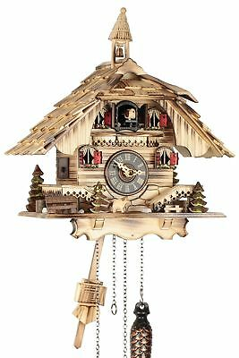 Black Forest House Natural 31CM- Cuckoo Clock Cuckoo Clock Real Wood N