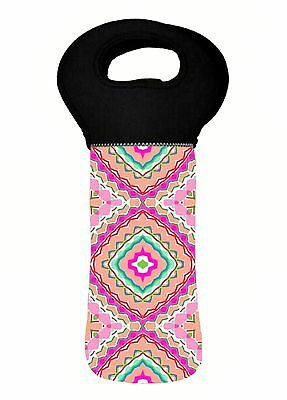 Bohemian Mandala Hindi Wine Bottle Cooler Carry Bag