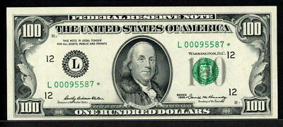 USA 1969, Federal Reserve Note $100,Fr-2164-L,Replacement / Star note UNC