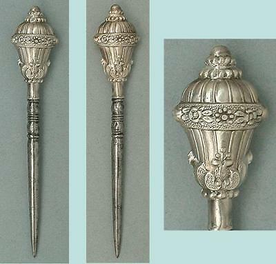 Pretty Antique French Silver Stiletto / Awl * Circa 1850s