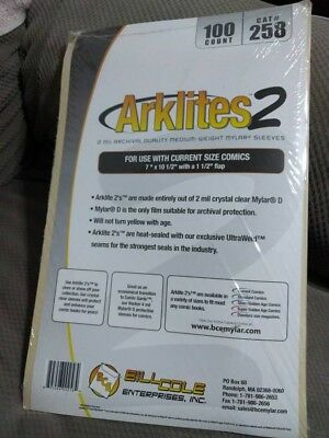 ARKLITES 2 Mylar Sleeves comic book bags by Bill Cole Enterprises, Inc