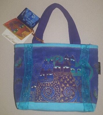 New with Tags ~ Laurel Burch Indigo Cats Tote & Mirror!