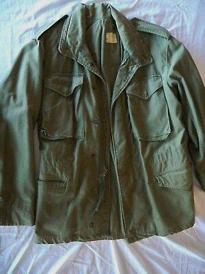 Vintage 70's Army M-65 Military Issued Cold Weather Field Jacket S Regular