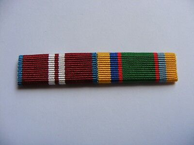Queens Diamond Jubilee Medal and Cadet Force Medal Sew on Ribbon Bar
