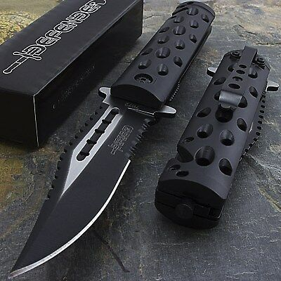 """8.5"""" SPRING ASSISTED TACTICAL FOLDING RESCUE POCKET KNIFE Blade Open Assist EDC"""