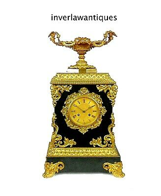 Fabulous Early 19th Century Ormolu and Slate Mantel Clock Honore Pons