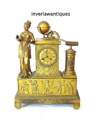 Regency Period Gilt Bronze Figural Mantel Clock 1795-1837
