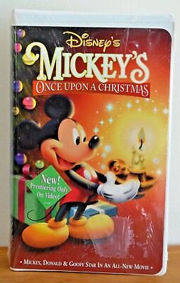mickeys once upon a christmas vhs 1999 clamshell sealed - Mickeys Once Upon A Christmas Vhs
