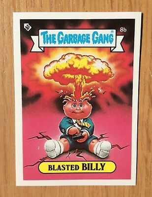 Blasted Billy 8b~Garbage Pail Kids~New Zealand The Garbage Gang~Mint~Pack fresh!