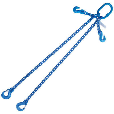 """5/16"""" x 10' G100 Adjustable Chain Lifting Sling with Sling Hook Double Leg"""