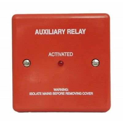 Haes BRF248A-R Boxed Fire alarm Relay Fused 24vdc 8A Double Pole Red