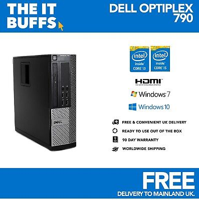 Fast Dell Optiplex Desktop PC I3 I5 4GB 8GB HDMI Windows 10 & 7 SSD HDD