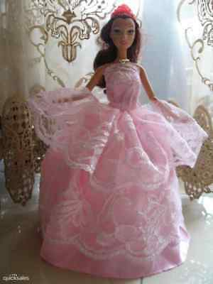 Lot-1 Popular Barbie Doll sized dress+1 pair of shoes-ON SALE-GOOD GIFT-POPULAR@