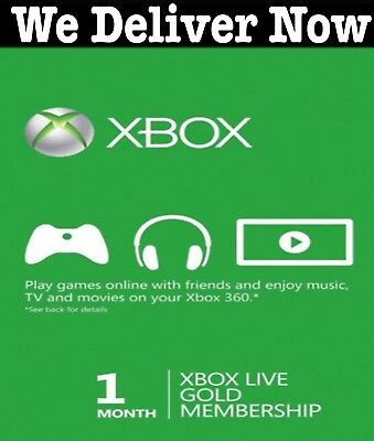 Xbox Live ONE 1 Month Gold Membership Subscription for Xbox One 360 SAME DAY