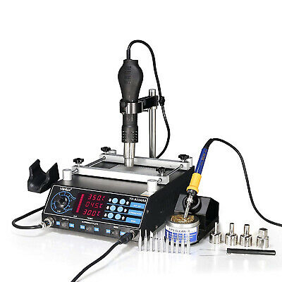 Wep-853Aaa 3 In1 Smd Soldering Desoldering Hot Air Gun Preheat Bga Rework Statio