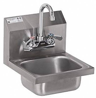 ACE Ultra Space Saver Wall Mount Stainless Steel Hand Sink with No Lead Faucet