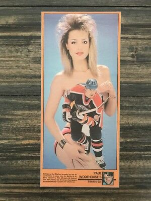April 1988 Wayne Gretzky Edmonton Sun Sunshine Girl Cutout