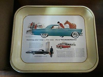 FORD THUNDERBIRD 1976 Reproduction 1954 Antique Serving Tray