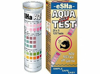 Esha Aqua Quick Test Kit Strips PH KH NO2 NO3 GH water testing 50 x 6 tests