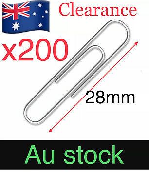 200PCS Paper Clips 28mm Business Bargain Price Stationery Art Office Home 🇦🇺