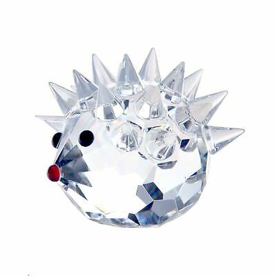 H&D 70mm Cut crystal hedgehog animal large figurine collection glass ornament