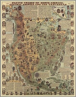 Native Tribes of North America, Central America and the Caribbean Poster