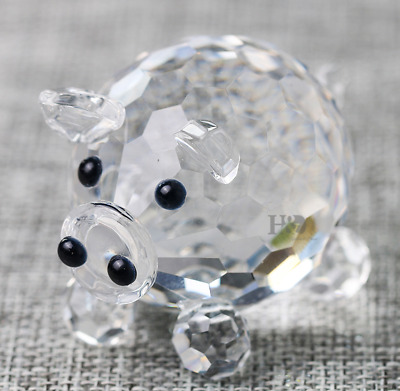 H&D 50mm Pig Crystal Figurine Paperweight Wedding Favor Collectibles