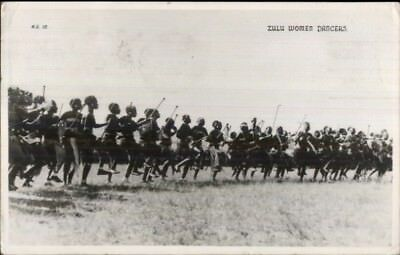 Zululand Africa Zulu Women Dancers Ethnography 1952 Used Real Photo Postcard