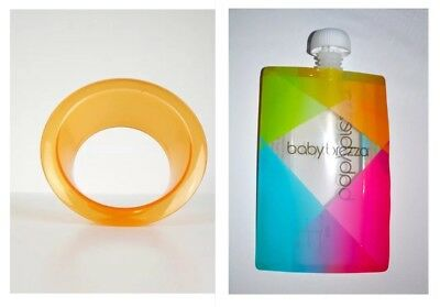 Baby Brezza Reusable Funnel  PLUS  Baby Food  Storage Pouch NEW