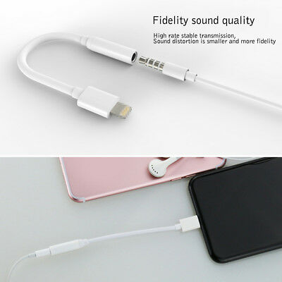 For iPhone 7 Lightning to 3.5mm AUX Audio Earphone Plug Adapter Cable Cord