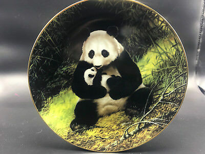 Vtg WS George Collectible Plate Will Nelson Panda Endangered Species '88 COA Box