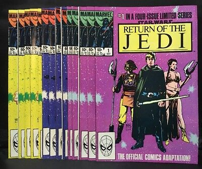Star Wars Return of the Jedi #1 3 4 Marvel Comic Lot of 15 Uncirculated Copies!
