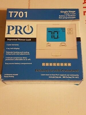 T701 - Pro1 IAQ Single Stage Non-Programmable Electronic Digital Thermostat