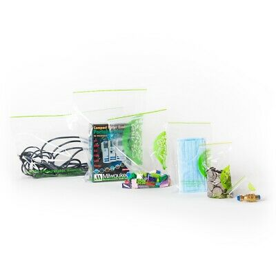 Zip Lock Bags Biodegradable Plastic Resealable Ziplock | 100 Bag, Small to Large