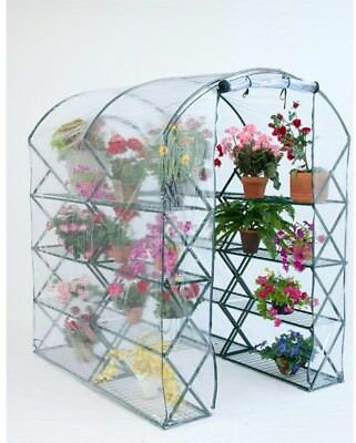 Harvest House Greenhouse Walk-In Zipper Closure X-Up Lift Lock Shelving Frame