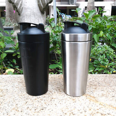 Stainless Steel Bottle 739 ML Protein Powder Shaker Mixer Drinking Cup