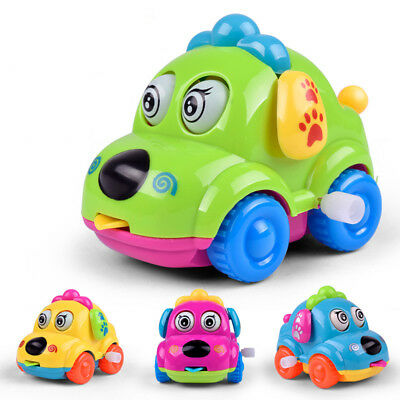 Cute Cartoon Running Car Wind Up Toys Clockwork Classic Baby Kids Toy Finest