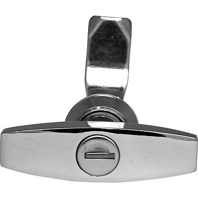 Chrome Door T-Handle Lock with (92268 or CL001) Key