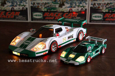 2009 Hess Race Car & Racers 100% Mini-in-Box!    + 2009 Hess Bag